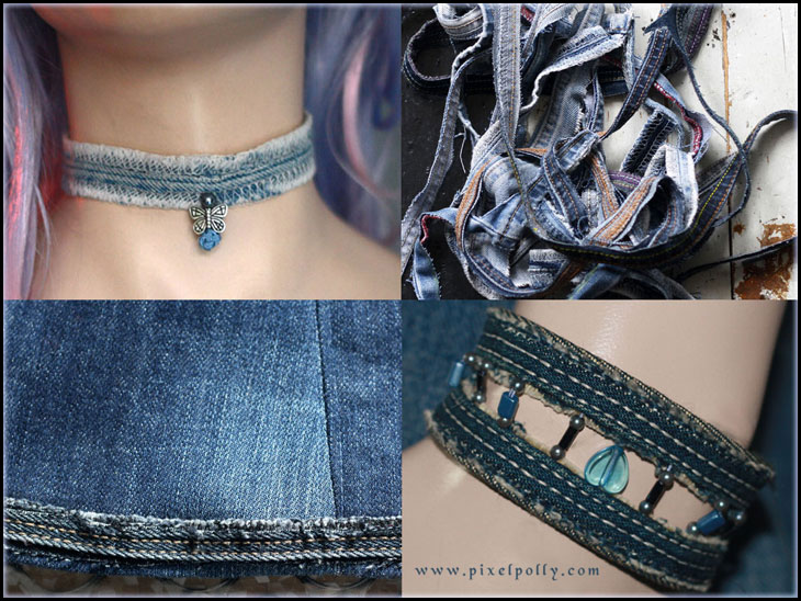 DIY tutorial things you can make with jeans hems