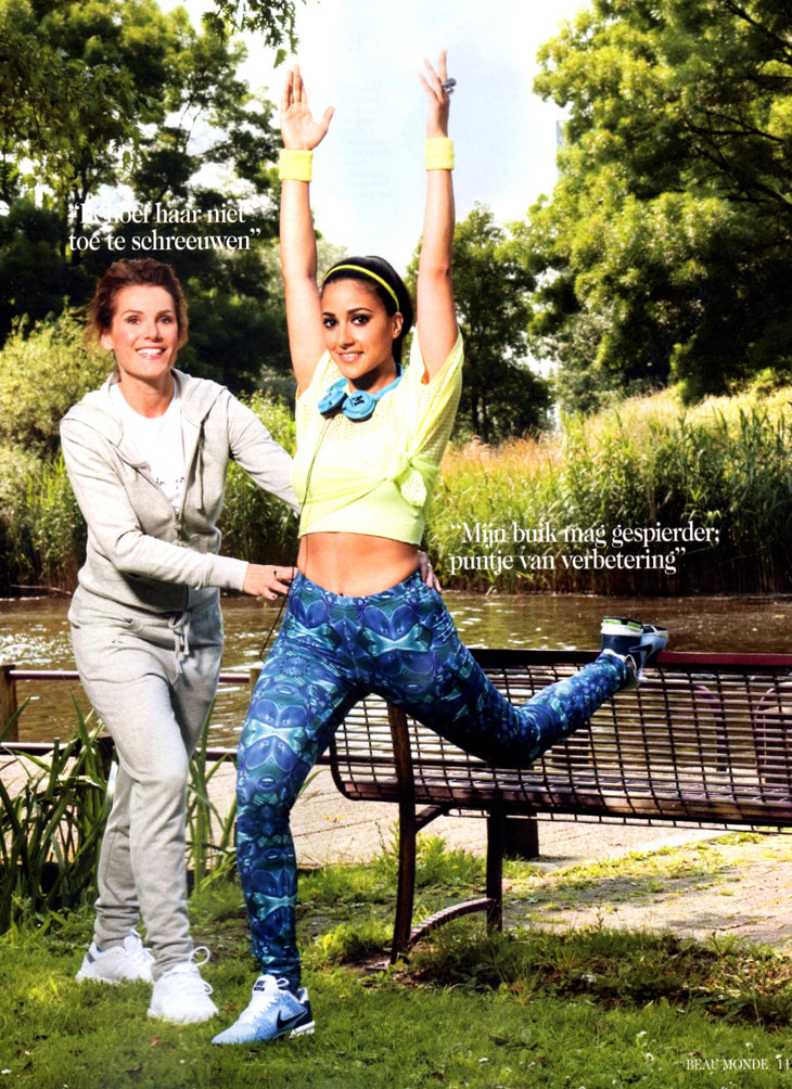 Pixelpolly Printed Legging in een artikel in de Beau Monde