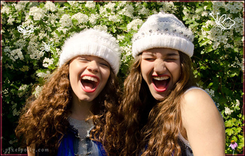 Sweet beanies with openwork and hairy fluffy details