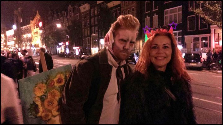 Meeting Vincent van Gogh Halloween 2015