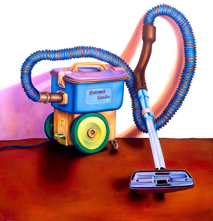 painting of a vacuumcleaner made by Pixelpolly Amsterdam