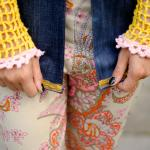 Close up crochet long sleeves