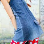 Dress denim with little stuffed tail