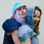 Upcycled denim small capes