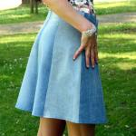 flared skirt denim