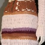 Crochet skirt knitted and crocheted