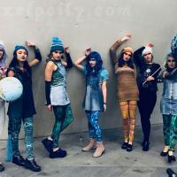 Eco nymphs dressed in trash fashion