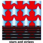Stars and stripes textiel print