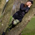 Legging crazy forest army green