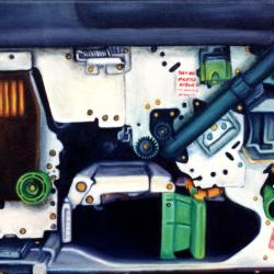 Oil on canvas copymachine