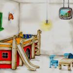 concept kinderkamer - concept drawing childrens bedroom