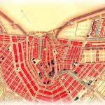Old map of Amsterdam - oude plattegrond van Amsterdam